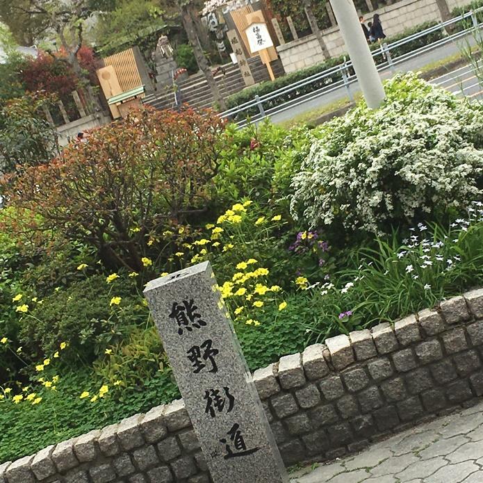 道標と熊野街道と縁のある堀越神社
