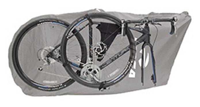 C:最も扱いやすい「前輪を外して横に入れる」輪行袋