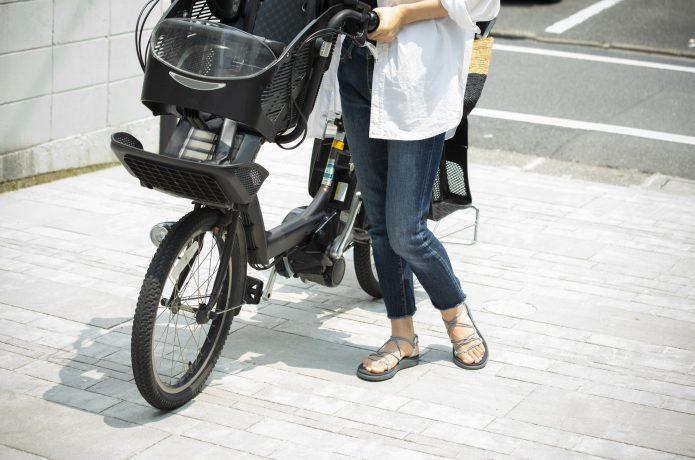 電動アシスト付き自転車の画像