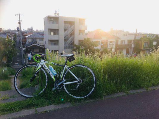 西日を感じながらふらりサイクリング