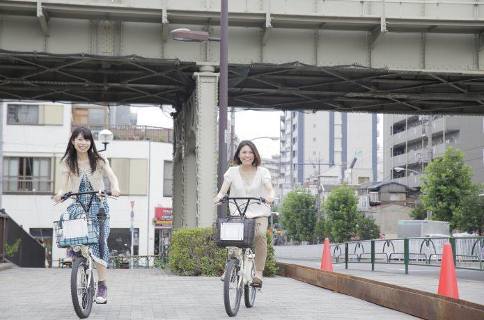 お洒落な自転車として、女性にも人気がある