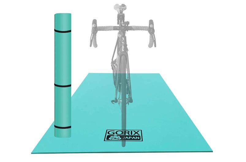 自転車用のマットも用意しておくと便利