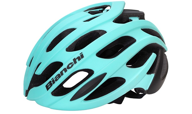ビアンキの自転車用有路鳴るヘルメット