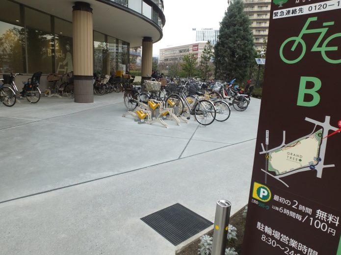 駐輪する場所の確保と、駐輪場代