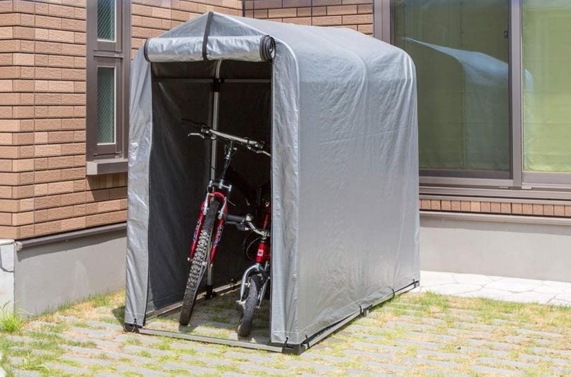 自転車を覆う「テントタイプ」