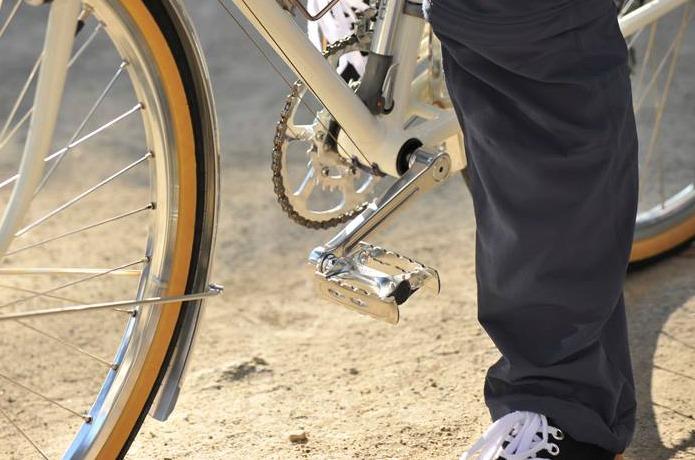 どんな自転車にもあうシンプルなデザイン