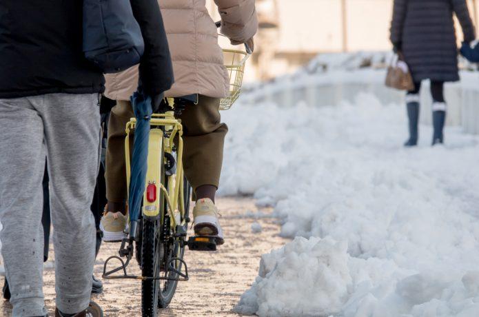 万全の防寒対策で、冬でも自転車を快適に!!
