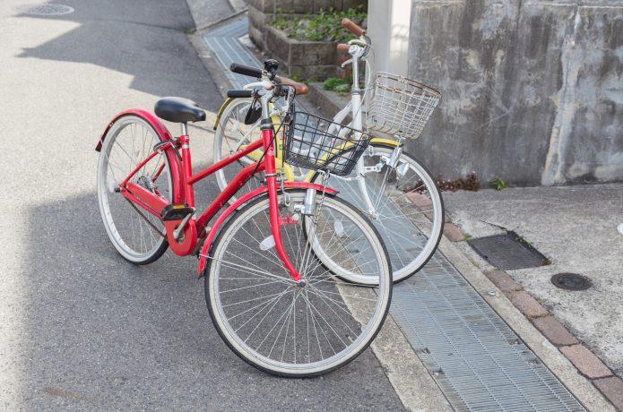 「スタンド」で自転車をしっかり固定!