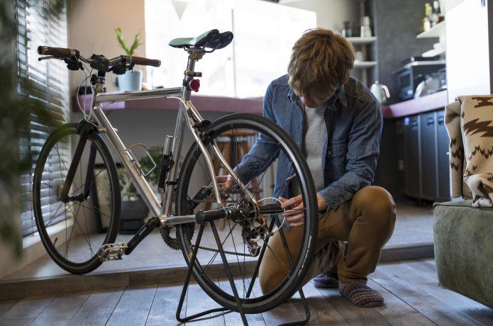 バイクタワー以外にも屋内保管の方法、ありますよ