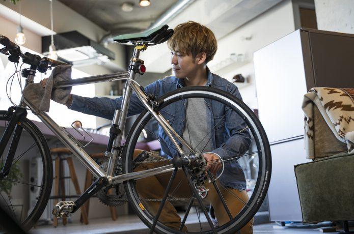 ホイール交換して、より理想のクロスバイクに