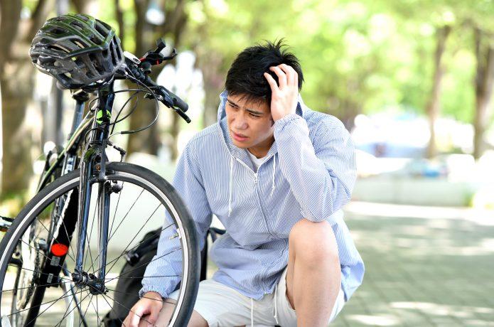 パンク 自転車